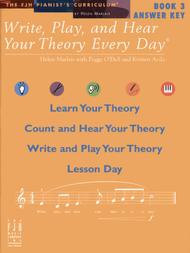 Write, Play, and Hear Your Theory Every Day Answer Key, Book 3
