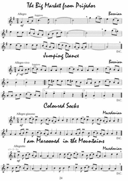 Recorder Solos on Balkan Folk Songs and Dances sheet music