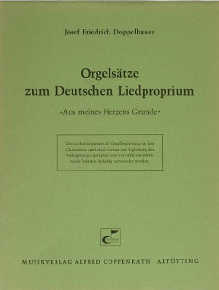 Doppelbauer, Orgelsatze zum Deutschen Liedproprium