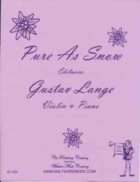 Pure As Snow By Gustav Lange