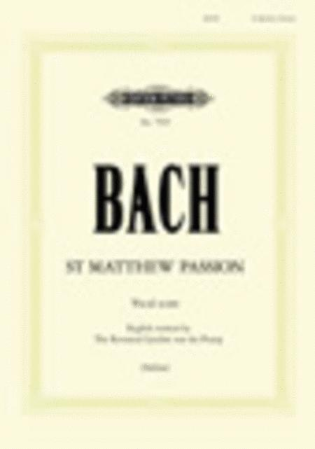 St Matthew Passion, BWV 244