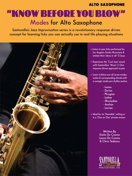Know Before You Blow - Jazz Modes for Alto Sax with CD