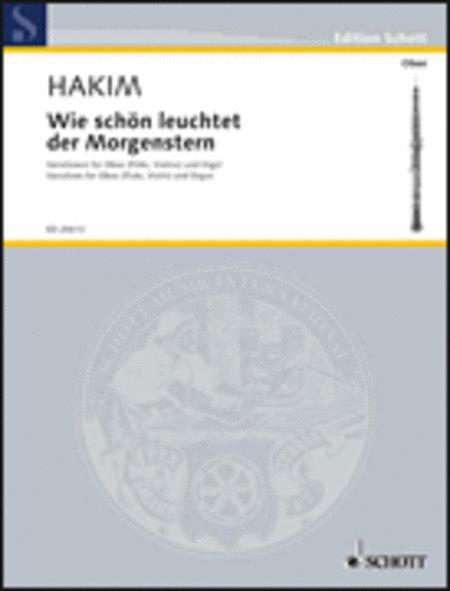 Wie Schon Leuchtet Der Morgenstern Variationen Fur Oboe (or Flute, Violin) And Organ