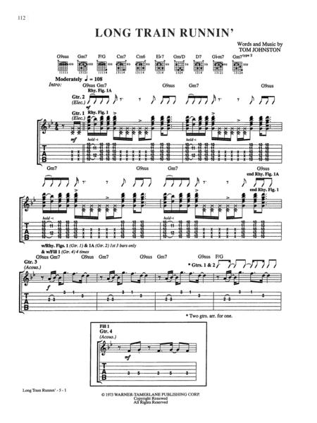 Download Long Train Runnin Sheet Music By The Doobie Brothers