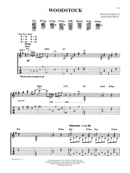 Preview Woodstock By Joni Mitchell Ax00 Psg 000141 Sheet Music Plus
