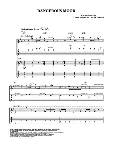 Download Dangerous Mood Sheet Music By Bb King Sheet Music Plus