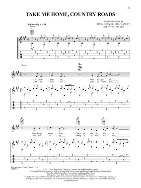 Download Take Me Home Country Roads Sheet Music By John Denver ...