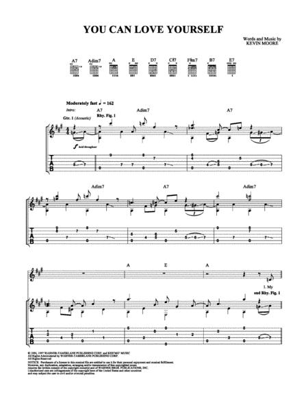 Download You Can Love Yourself Sheet Music By Keb\' Mo\' - Sheet Music ...
