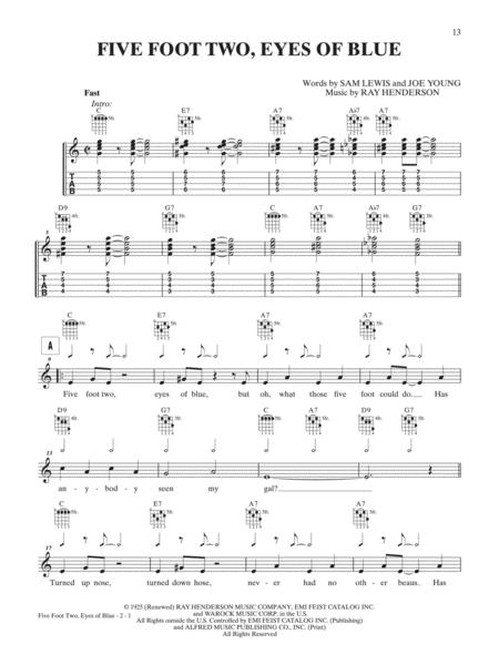 Download Five Foot Two Eyes Of Blue Sheet Music By Ray Henderson