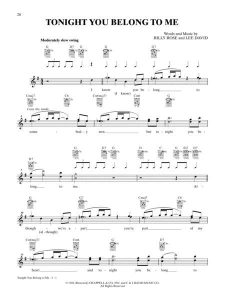 Download Tonight You Belong To Me Sheet Music By Lee David - Sheet ...