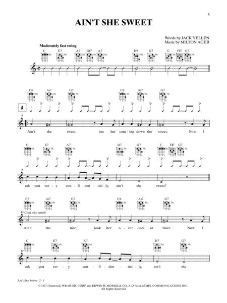 Download Aint She Sweet Sheet Music By Milton Ager Sheet Music Plus