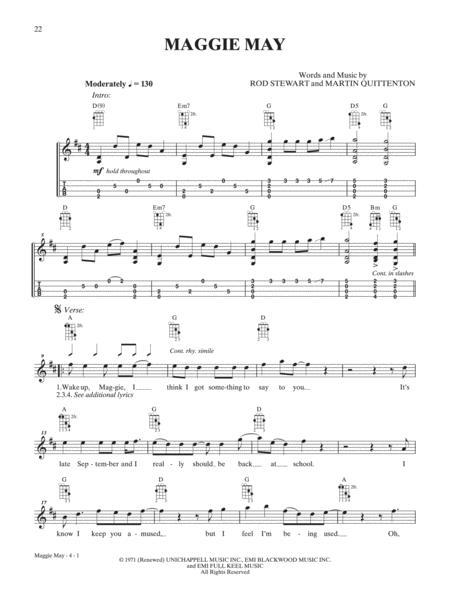 Download Maggie May Sheet Music By Rod Stewart Sheet Music Plus