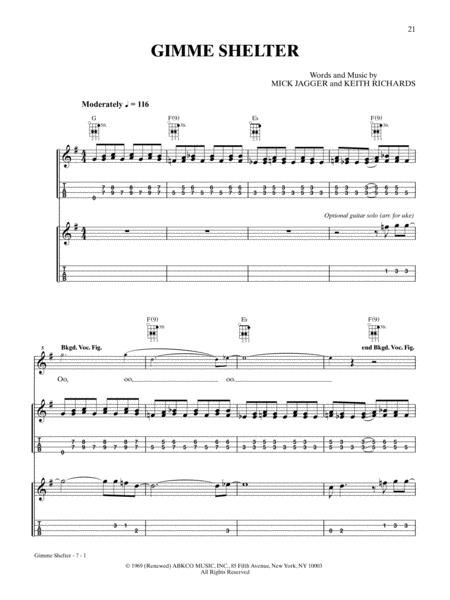 Download Gimme Shelter Sheet Music By The Rolling Stones Sheet