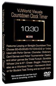 VJ World Visuals Countdown Clock Timer