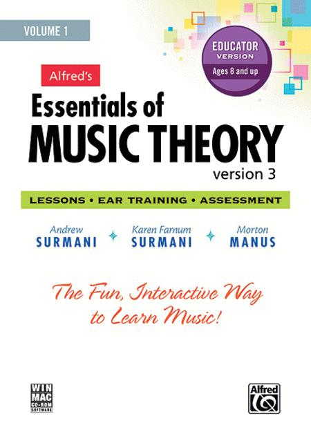 Alfred's Essentials of Music Theory Software, Version 3.0, Volume 1