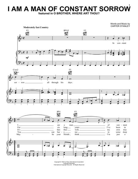 Download I Am A Man Of Constant Sorrow Sheet Music By The Soggy ...