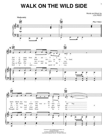 Download Walk On The Wild Side Sheet Music By Lou Reed