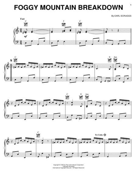Download Foggy Mountain Breakdown Sheet Music By Earl Scruggs ...
