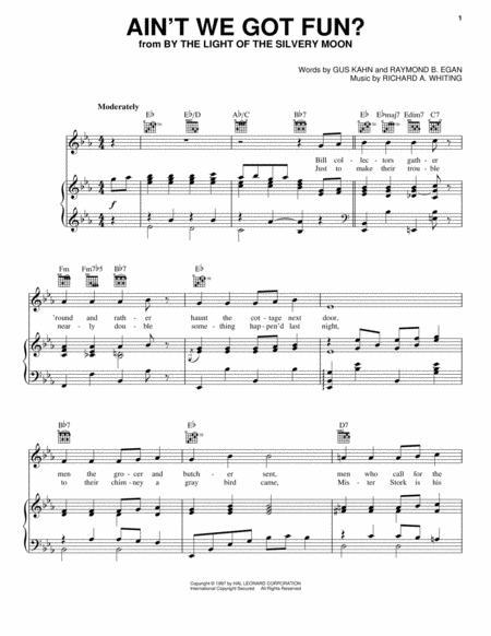 Download Aint We Got Fun Sheet Music By Doris Day Sheet Music Plus
