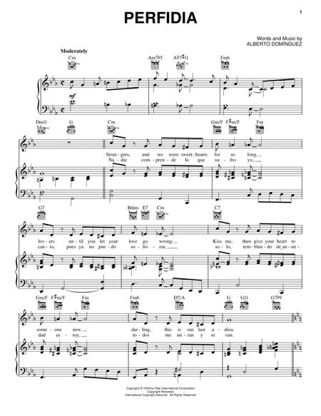 Download Perfidia Sheet Music By Alberto Dominguez - Sheet Music Plus