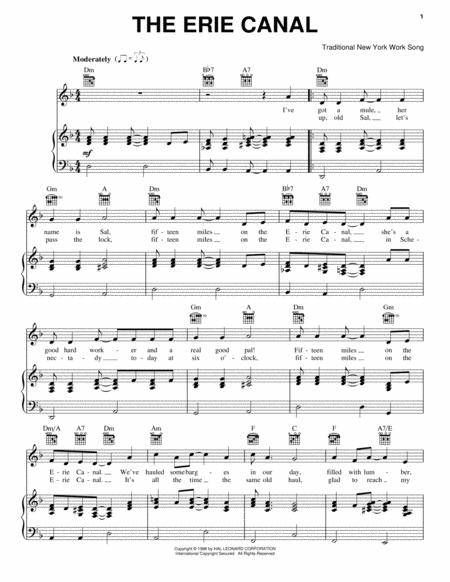 Download The Erie Canal Sheet Music By New York Work Song - Sheet ...