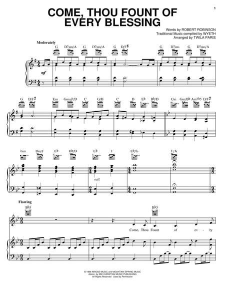 Download Come, Thou Fount Of Every Blessing Sheet Music By Twila ...