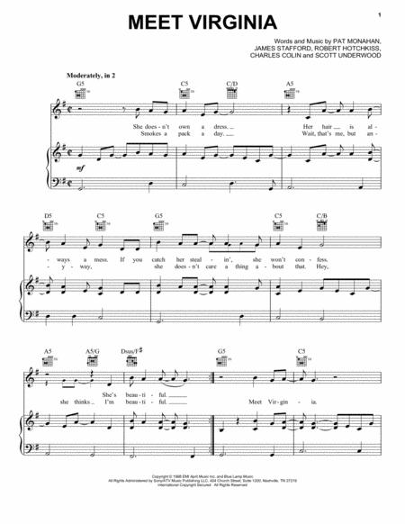 Download Meet Virginia Sheet Music By Train Sheet Music Plus