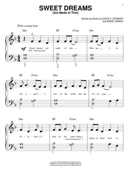 Download Sweet Dreams Are Made Of This Sheet Music By The
