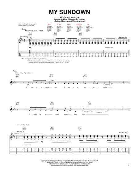 Download My Sundown Sheet Music By James Adkins Sheet Music Plus
