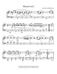 Minuet in G, Op. 10, No. 2