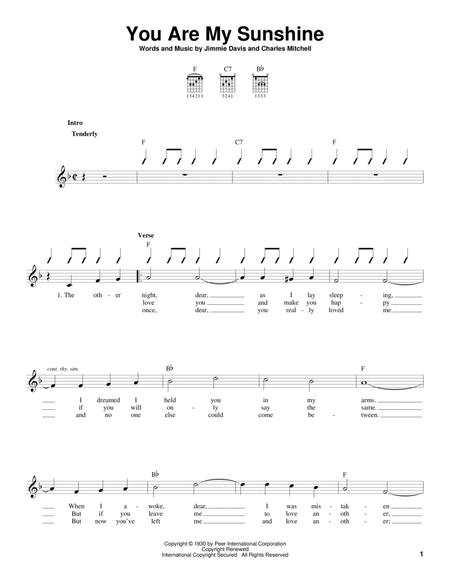 Download You Are My Sunshine Sheet Music By Duane Eddy - Sheet Music ...