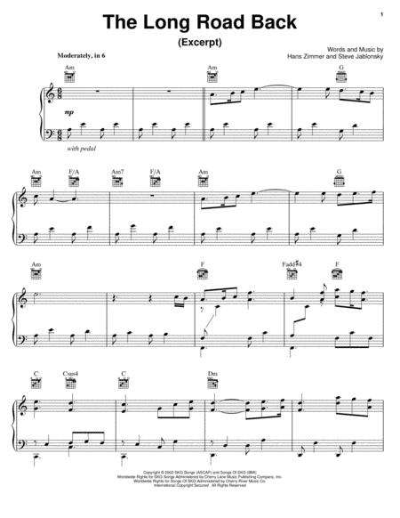 Download The Long Road Back Sheet Music By Hans Zimmer