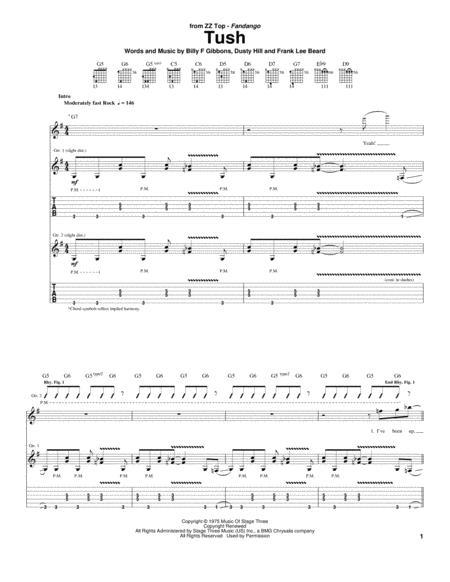 Download tush sheet music by dusty hill sheet music plus - Zz top la grange drum cover ...