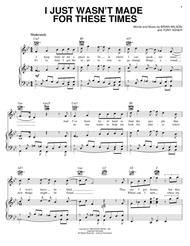 Download I Just Wasn't Made For These Times Sheet Music By