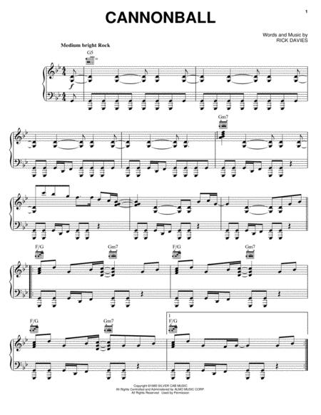 Download Cannonball Sheet Music By Supertramp Sheet Music Plus