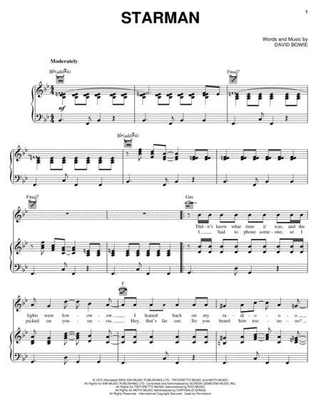 Download Starman Sheet Music By David Bowie - Sheet Music Plus