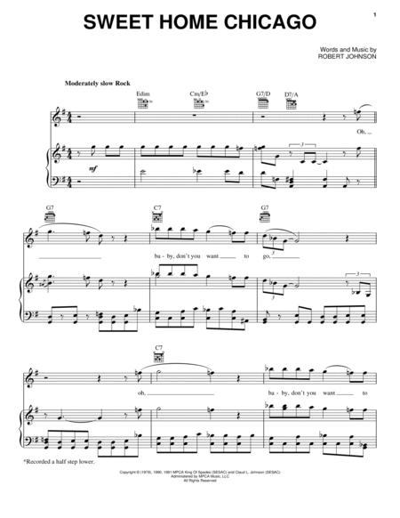 Download Sweet Home Chicago Sheet Music By The Blues Brothers