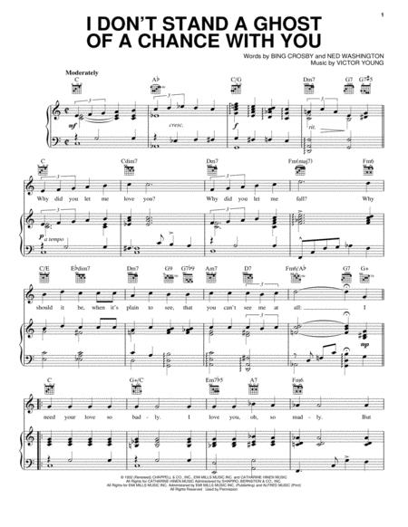 Download I Dont Stand A Ghost Of A Chance Sheet Music By Bing