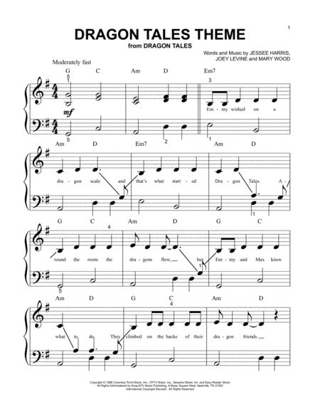 Download Dragon Tales Theme Sheet Music By Mary Wood - Sheet Music Plus