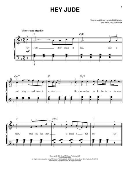 Download Hey Jude Sheet Music By John Lennon Sheet Music Plus