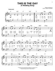 Download This Is The Day A Wedding Song Sheet Music By Scott