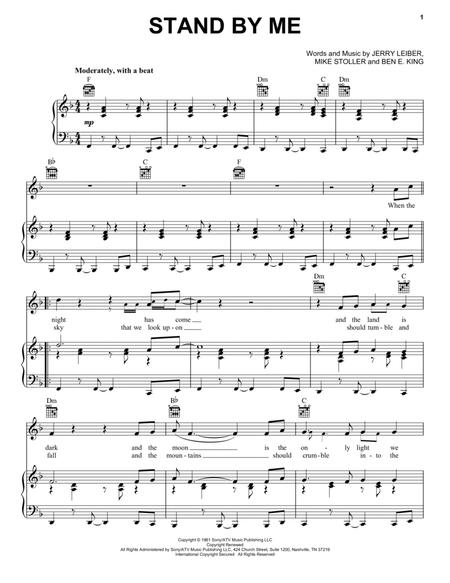 graphic regarding Free Printable Black Gospel Sheet Music titled Down load Stand By means of Me Sheet Tunes Via Ben E. King - Sheet