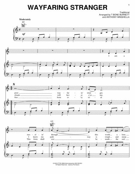 Download Wayfaring Stranger Sheet Music By Jack White - Sheet Music Plus