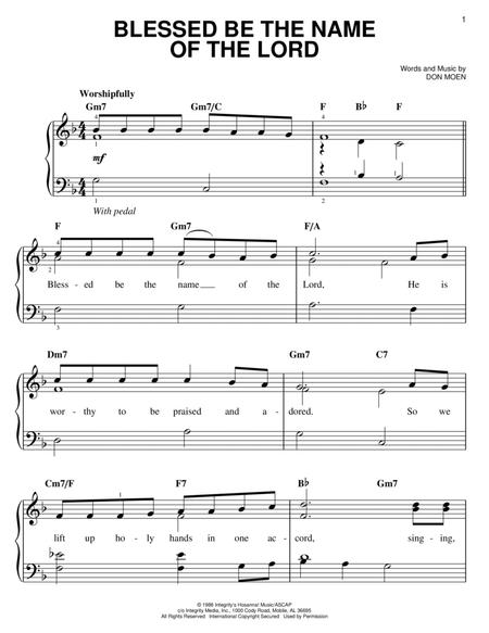 Download Blessed Be The Name Of The Lord Sheet Music By Don Moen ...