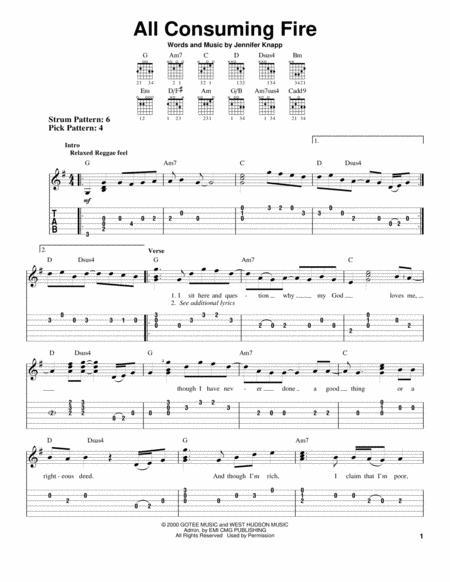 Download All Consuming Fire Sheet Music By Jennifer Knapp Sheet