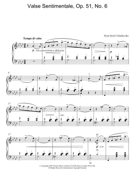 Valse Sentimentale, Op. 51, No. 6