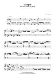 Allegro From Piano Sonata in C K545