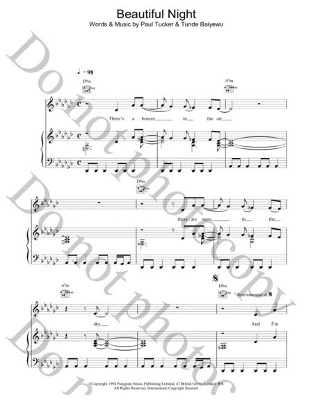 Preview Beautiful Night By The Lighthouse Family (HX.10664) - Sheet ...