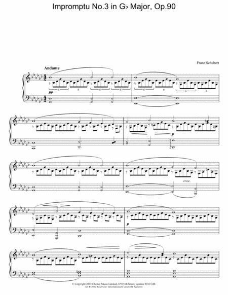 Impromptu No.3 in Gb Major, Op.90