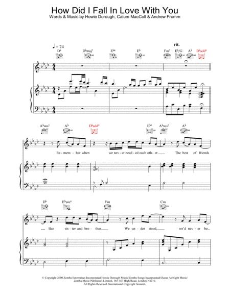 Download How Did I Fall In Love With You Sheet Music By The